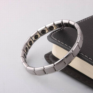 Titanium Energy Magnetic Germânio Energia Pulseira função de saúde pulseiras de Energia de energia Wrist Band mulheres homens declaração de jóias