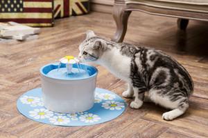 Çiçek stytle Otomatik Elektrikli 1.6 L Pet Su Çeşmesi Köpek / Kedi İçme
