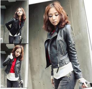 Korean women's Leather Slim short sunshine