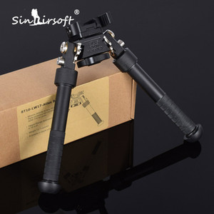 2017 BT10-LW17 V10 Atlas Bipod 360 Derece Ayarlanabilir Ayaklar AR15 Av Tüfeği Adaptörü için Hassas Bipod Picatinny Weaver Keymod Ray