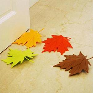 Atacado-2015 New Arrivel Hot Maple Autumn Leaf Estilo Home Decor Finger Door Door Stopper Stopper Doorstop