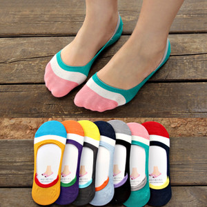 Gros-1Pair Candy Color Summer Mince Invisible Ankle Socks Slip Socks Femme Respirant No Show Short Bateau Chaussettes Calcetines Mujer