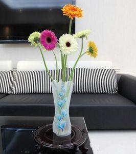 Folding Flower PVC Vase Unbreakable Reusable Home Wedding Party Decoration DHL