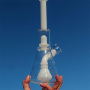 Tubos barato pelele de cristal Bongs de cristal Bongs Waterpipes Científico Bubblers percolador agua pelele Tubo 18.8mm masculino Conjunto Agua