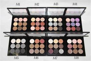 أفضل جودة ! M Makeup Brand Eyeshadow Palette 9 color Nude Makeup مع لوحات مكياج عارية لوحة الشعار