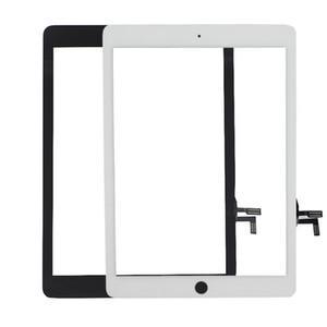 100% nuevo de alta calidad de la pantalla táctil del panel de cristal digitalizador para iPad Aire Blanco y Negro