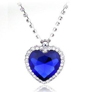 Сердце Океана ожерелье Хрустальная цепь роскошное сердце алмазные подвески Титаник ожерелья для женщин фильм заявление ювелирные изделия