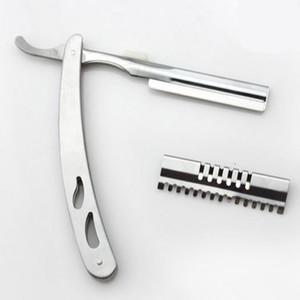 Atacado-profissional 2 em 1 tesouras do cabelo 440c navalha de barbear tesoura de desbaste tesoura corte de cabeleireiro tesoura frete grátis
