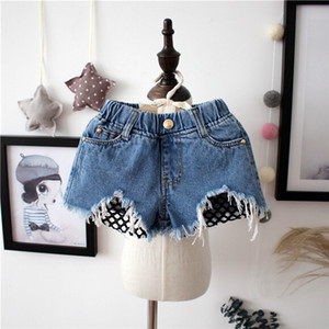 Baby Girls Clothes Kids Toddler denim shorts worn loose burr hole jeans shorts