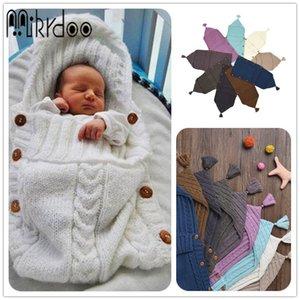 Mikrdoo 2017 neue Baby-Newborn Strickdecke Handgemachte Wrap Super Soft Schlafsack Baumwolle Jacquard Deckschicht Thema Quaste Hat Top