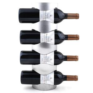 1 قطعة fashioncreative المقاوم للصدأ إطار النبيذ الأوروبي النبيذ رف معلق أصحاب النبيذ J3002
