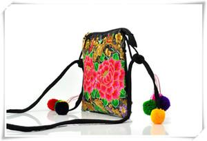 Bolso del bordado al por mayor del bolso del bordado al por mayor del estilo de Yunnan 2016 señora de la señora características pequeña Satchel