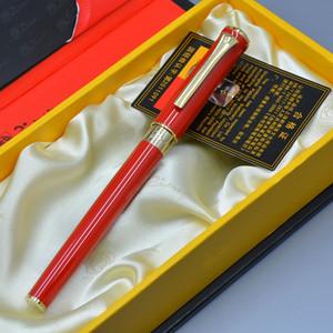 Lujo Picasso Roller bolígrafo para alta calidad de papelería de metal rojo y blanco suministros de oficina de la escuela escritura bolígrafos de regalo de marca suave