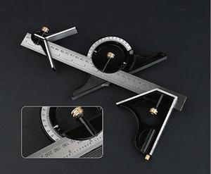 """Livraison gratuite 12 """"Tri-Square Ruler Combinaison d'outils pour le bois Multi-angle Square Machinist Steel Steel Règle d'outil outil de mesure"""