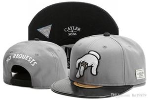Hohe Qualität Cayler Sons KEINE ANFORDERUNGEN Leder Baseball Caps Männer Hysteresenhüte Einstellbare Sportknochen Swag Für Erwachsene