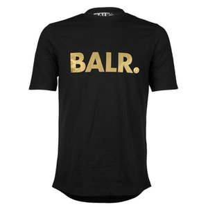 O envio gratuito de t-shirts dos homens marca Balr rua maré de manga curta em torno do pescoço solto de manga curta de algodão dos homens personalidade T-shirt dos homens