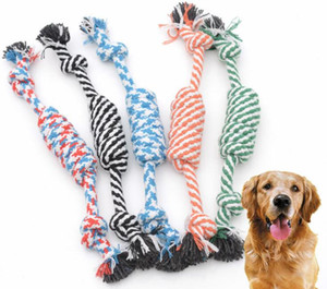2018 Hot sale Dog Rope Fun Pet Chew Knot Toy Cotton Stripe Rope Dog Toy Durable High Quality Dog Accessories Drop Shipping