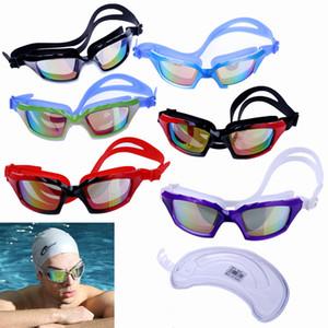 Yetişkin Erkekler Kadınlar İçin Ücretsiz Koruma Case Karşıtı Sis UV Koruma Triatlon Swim Goggles Leaking Swim temizleyin Gözlükler Yüzme Gözlük