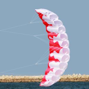 2m Dual Line Stunt Parafoil Kite mit Griff 30m Line Outdoor Fun Sports Kometen Chinas Voladora Hochwertiger Power Soft Kite