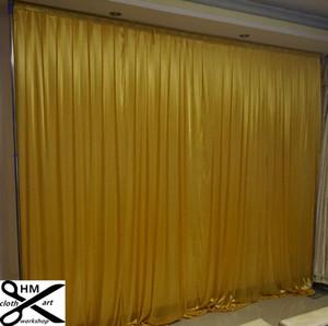 3 M yüksek * 3 M geniş düğün perde siyah backdrop renk Parti Perde Kutlama draps Performans Arka Plan Saten Örtü duvar valance
