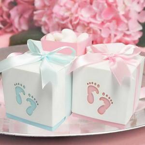 Bebê da fita favor da festa caixas de presente de doces favores e presentes de casamento