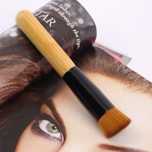 10pcs New Oblique Stlsyle Brush Wooden Handle Multi-Function Mask Brushes Foundation Makeup Too Professional Angled Flat Top Brush