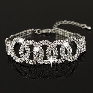 Own factory made Bracelete Pulseiras Austrian Crystal Womens Bracelet Jewelry Fashion Wedding Bracelets Accessories for women B014