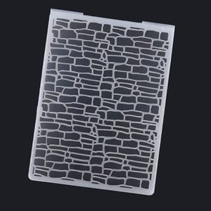 Plastic Embossing Folder For Scrapbooking Irregular Bricks Type Photo Album Card Paper Craft Template Free Shipping
