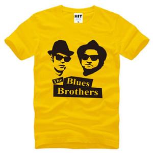 Yeni Yaz Blues Kardeşler T Shirt Erkekler Pamuk Kısa Kollu Jake ve Elwood erkek T-Shirt Moda Film Müzik Erkek Tee Üstleri Büyük Boy