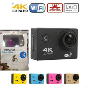 "4K Sports Camera HD Action 2 ""WIFI Diving 30 Metros Cámaras impermeables 1080P Full HD 140 ° Cámaras de la cámara Sport DV Car color más barato JBD-M7"