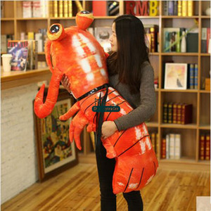 Dorimytrader 2017 Neue Große 120 cm Simulierte Tier Mantis Shrimp Plüsch Kissen 47 '' Große Stofftier Shrimp Spielzeug Kinder Spielen Puppe DY61541