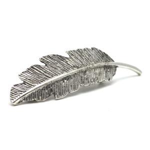 تصميم خاص ورقة شكل ربيع الشعر كليب المرأة مجوهرات دبوس مشبك باريت التموين # T701