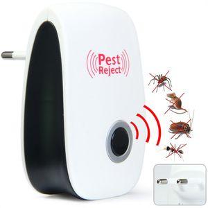 على بيع البعوض القاتل الإلكترونية متعددة الأغراض بالموجات فوق الصوتية مبيد الحشرات رفض الجرذ الفأر طارد مكافحة القوارض علة رفض إلخ