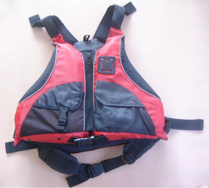 Wholesale- Free shipping CE Certified Kayak Life Jackets,Rafting life vest Adult free size red color Buoyancy aids PFD