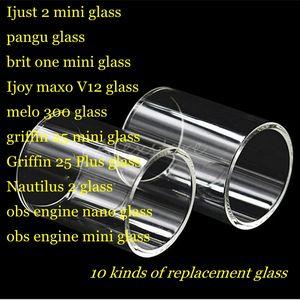 Ijust 2 mini pangu brit one Ijoy maxo v12 melo 300 griffin 25 plus nautilus 2 obs engine nano tank rta Pyrex Tubo vetro di ricambio