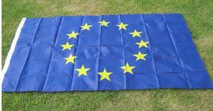 Große Europäische Union EU-Flagge 90 * 150cm Euro-Flagge von Europa Super-Polyester-Emblem des Europarates