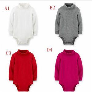 4 colori abbigliamento bambino 2017 neonato neonato ragazzi vestiti vestiti tuta tuta manica lunga infantile prodotto solido ramper del colletto