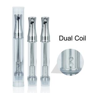 50pcs mejor exract aceite vaporizador metal goteo punta Pyrex vidrio tubo BVC bobina grueso aceite atomizador 510 hilo .5 ml 1 ml cartucho de CO2