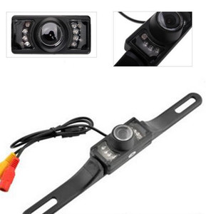 100pcs Waterproof Long License Plate Frame Color CMOS Car Rear View Camera For Reverse Parking camera With 7 LED IR Night Vison