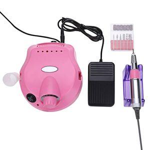 Profesyonel Nail Art Ekipmanları Düşük Gürültü ve Titreşim Elektrikli Nail Art Parlatıcı Dosya Matkap Manikür Pedikür Makinesi + B