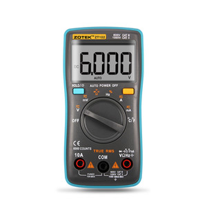 ZOTEK ZT102 Digital Multimeter 6000 counts Back light AC DC Ammeter Voltmeter Ohm Frequency Diode Temperature