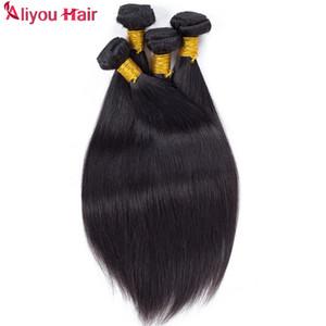 Incroyable de Nice Brésilien Pérou Indien Malais droite Bundles tissage de cheveux humains Weave 100 g / pc gros Cheap Hair Extensions cheveux Trame