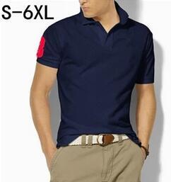 Büyük Boy S-6XL Polo Gömlek Erkekler Büyük At Camisa Katı Kısa Kollu Yaz Rahat Camisas Polo Erkek ePacket Ücretsiz Kargo