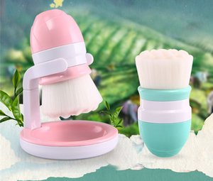 Facial Brush Face Cleansing Brush Set Ultra Soft Fiber Face Skin Care Deep Cleanser Tool with Stand