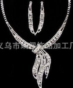 novia de la boda de cristal blanco jewerly set earings crown (88)