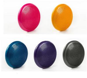 33 cm Durable Universal Inflável Yoga Estabilidade Equilíbrio Equilíbrio Disco Massagem Almofada Tapete Yoga Exercício Bola de Massagem de Fitness