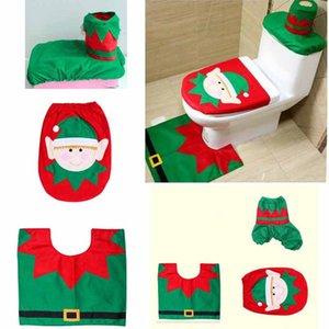Decorações da festa de aniversário Entrega Santa Toalete Tampa de Assento Conjunto de Toalha de Papel Tapete Banheiro Set Decorações de Natal Para Casa