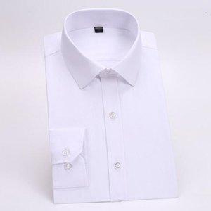 Мужчины костюмы рубашка на заказ жених свадебные смокинги рубашка сплошной цвет простой моды формальные деловые костюмы рубашка