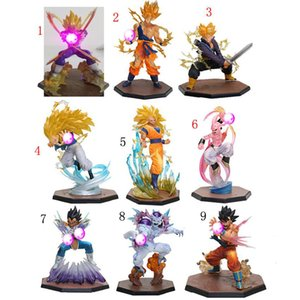 LED Light Dragon Ball Z Action Figure Figuarts Zero Vegeta Son Gokou Triple Kaiouken Kamehameha Battle Ver. PVC Toy Dragonball Z Figure