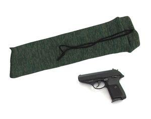 Tourbon tratadas silicona Pesca arma de la pistola de punto Calcetines luz verde del carrete de la cubierta del protector de la arma de mano para tomas de envío